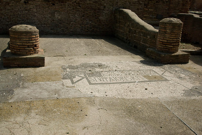 Mosaic floor in Ostia Antica, Italy