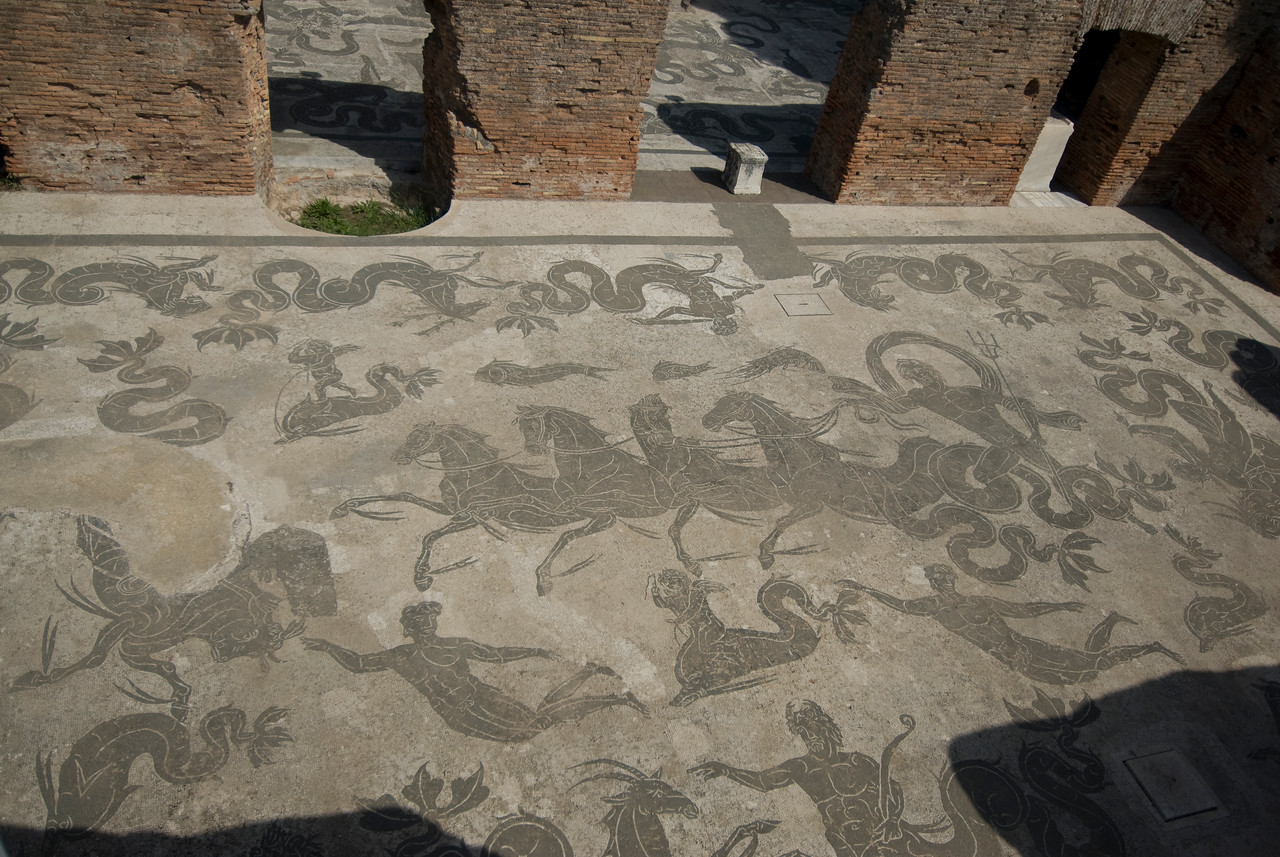 Mosaic at Ostia Antica, Italy