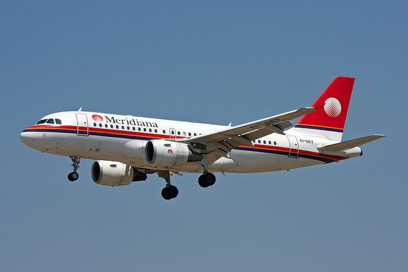"EI-DEY Airbus A319-112 ""Meridiana"" c/n 1102 Barcelona-El Prat/LEBL/BCN 29-06-08"