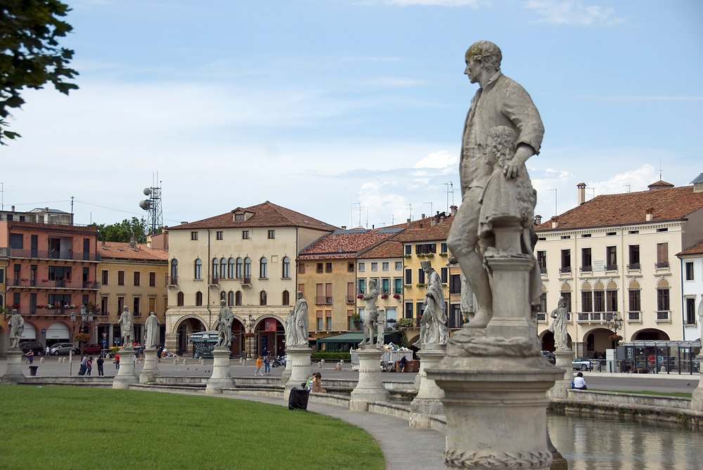 Statues in the Prato della Valle in Padua, Italy