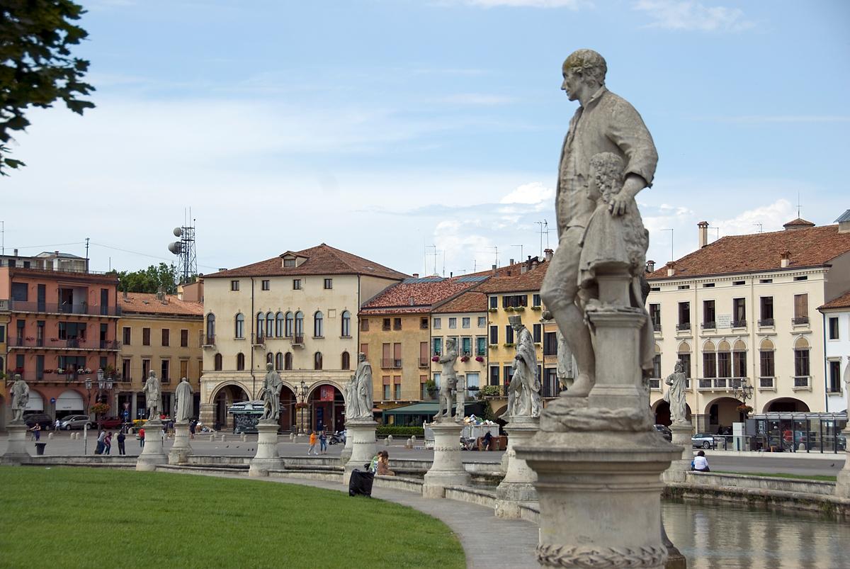Statues in the Prato della Valle in Padua, Italy