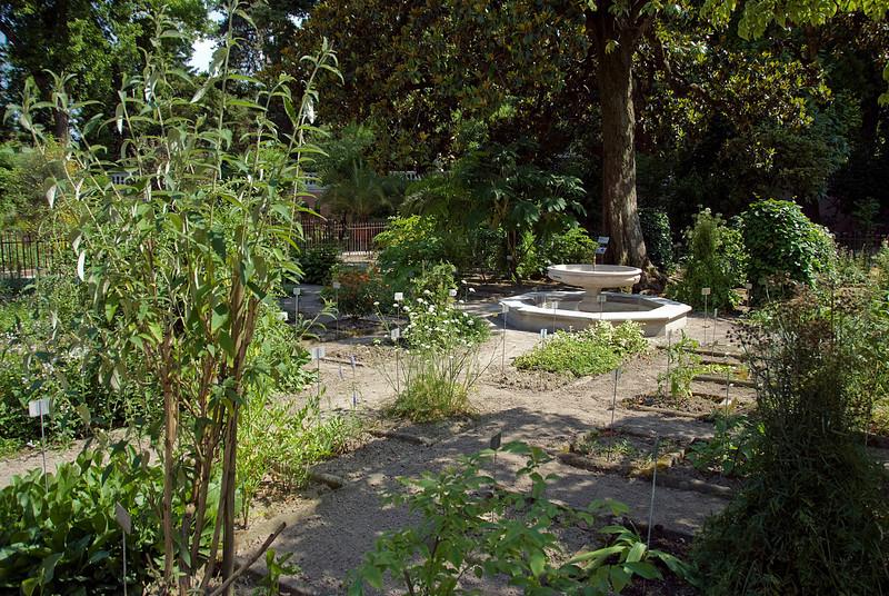 Old water fountain in Orto Botanical Garden of Pardova - Padua, Italy