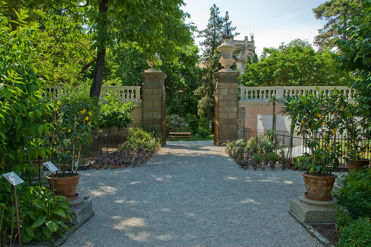 One of the gates to Orto Botanical Garden in Padua, Italy