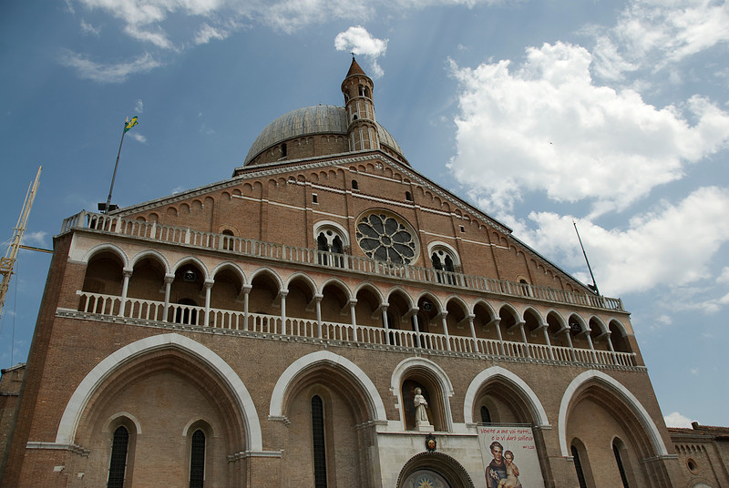 The Basilica of Saint Anthony of Padua facade - Italy