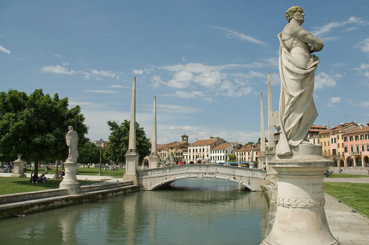 One of four bridges in Prato della Valle in Padua, Italy
