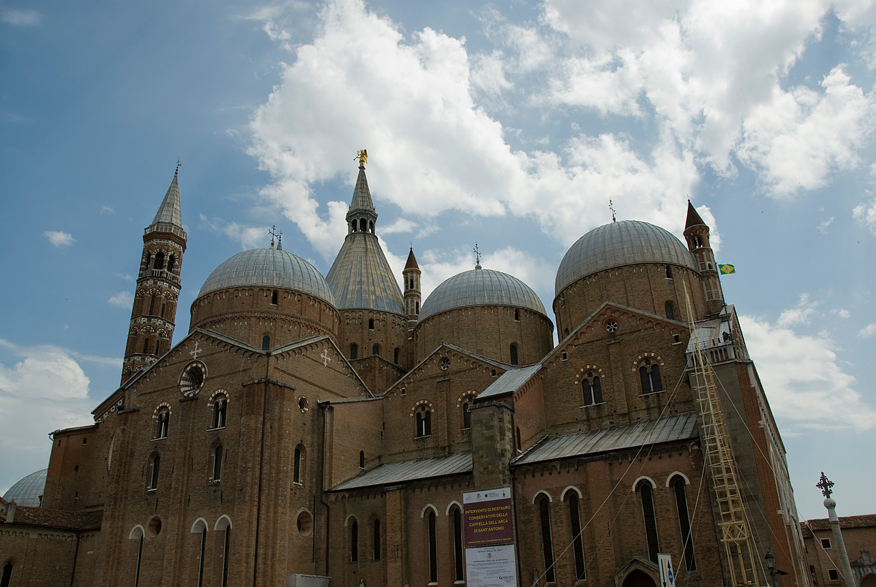 Side profile of the Basilica of Saint Anthony of Padua - Italy