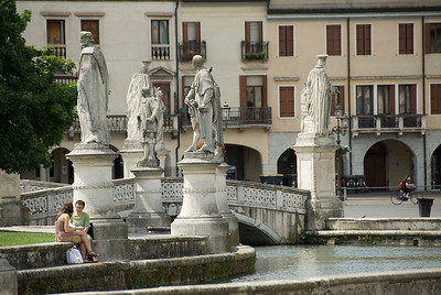 Andrea Memmo and other statues near the bridge at Prato della Valle - Padua, Italy
