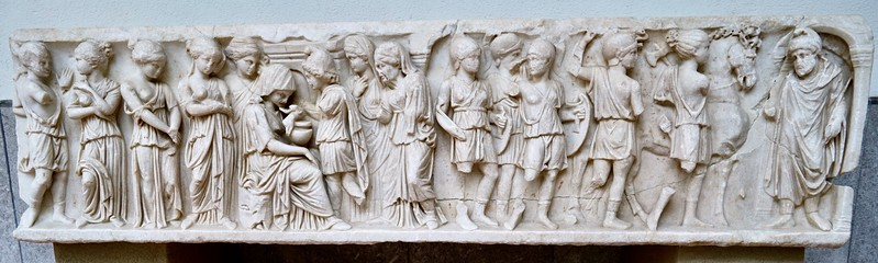 Roman mythological sarcophagus