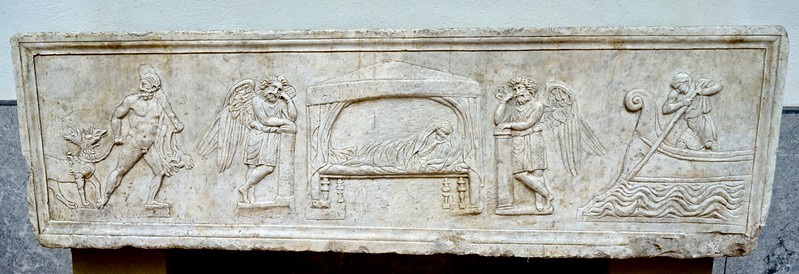 Sarcophagus with afterworld mythology