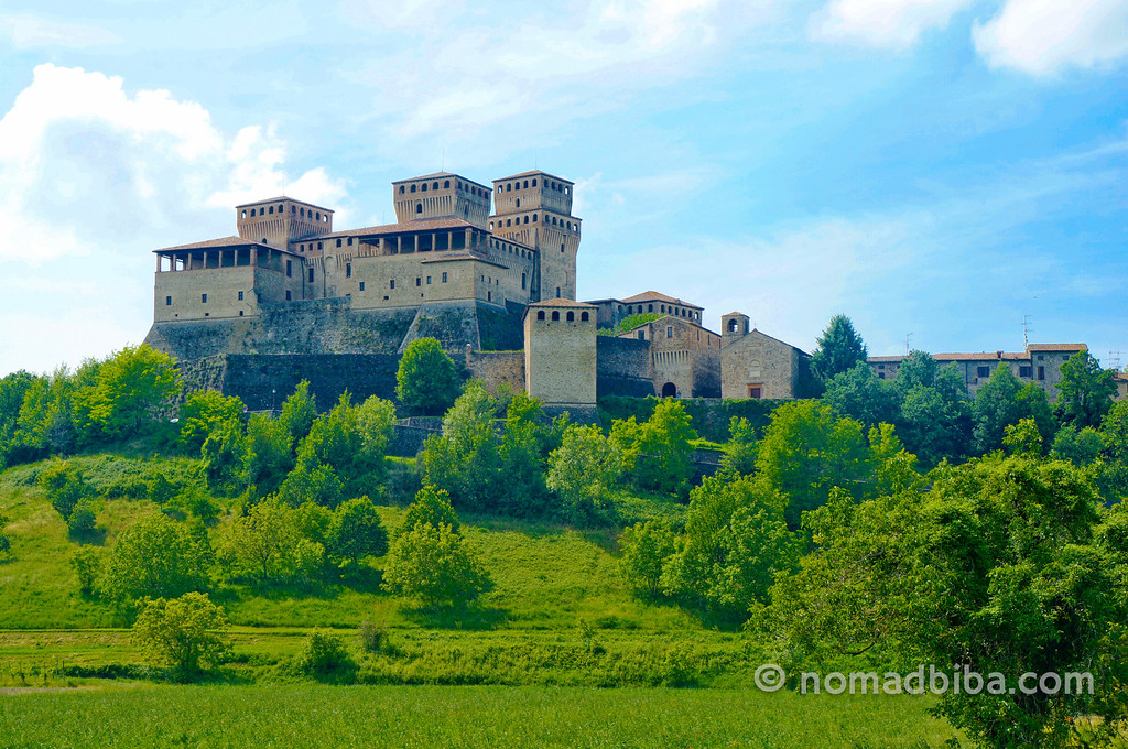 Castle of Torrechiara in Parma