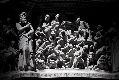 Sculpture at pulpit of Cathedral of Pisa - Italy