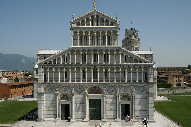 The Cathedral of Pisa facade in Italy