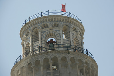 The bell at the top of Leaning Tower of Pisa - Italy