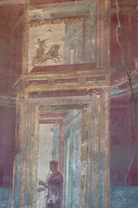 Art mural on a wall in Pompeii, Italy