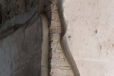 Old walls intact in Pompeii, Italy