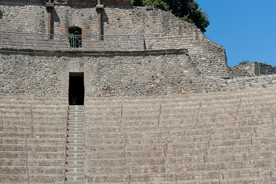 Stairs and structure remains at Pompeii - Italy
