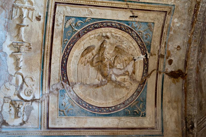 Rescued art in Pompeii, Italy