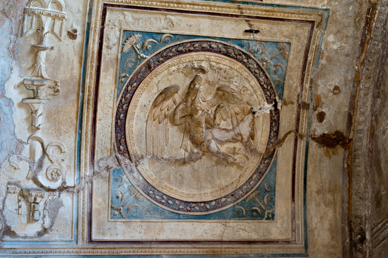 Rescued art in Pompeii, Italy