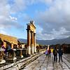 Italy, Ruins of Pompeii, View on Forum