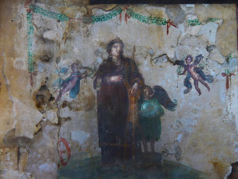 Italy, Ruins of Pompeii, Fresco
