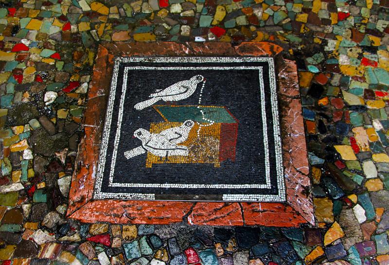Italy, Ruins of Pompeii, Floor Mosaic