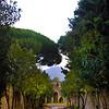 Italy, Ruins of Pompeii, Path to Amphitheatre, View on Vesuvius