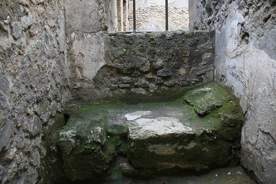 The brothel in the a ncient ruins of Pompeii, Italy