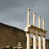 Italy, Ruins of Pompeii, White Columns Near Forum