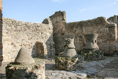 Old mill.  Ancient ruins of Pompeii, Italy