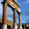 Italy, Ruins of Pompeii, Columns