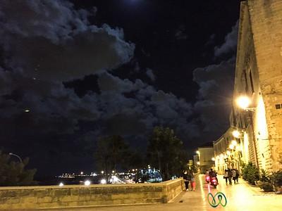 Walking the Walls of Bari's Old Town at Night - Puglia, Italy