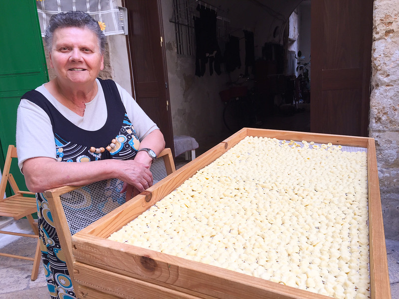 Homemade Orecchiette on the Streets of Bari - Puglia, Italy
