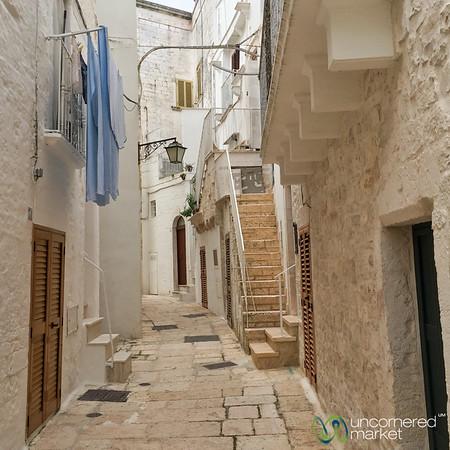 Walking through Old Town of Cisternino - Puglia, Italy
