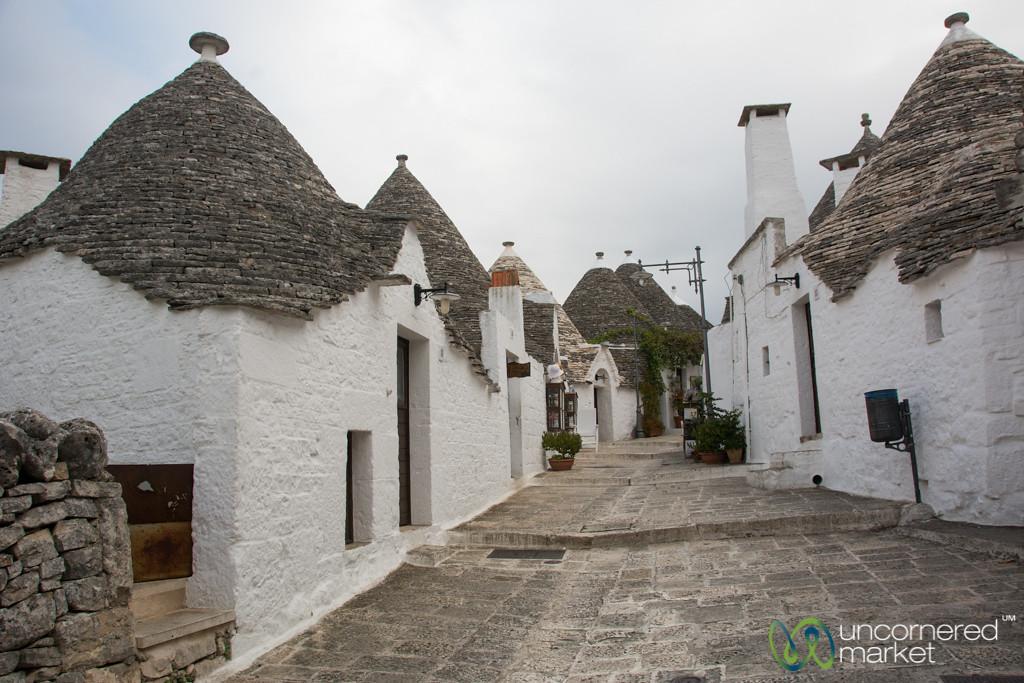 Trulli Houses in Alberobello's UNESCO Site - Puglia, Italy