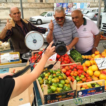Cisternino Market Vendors - Puglia, Italy