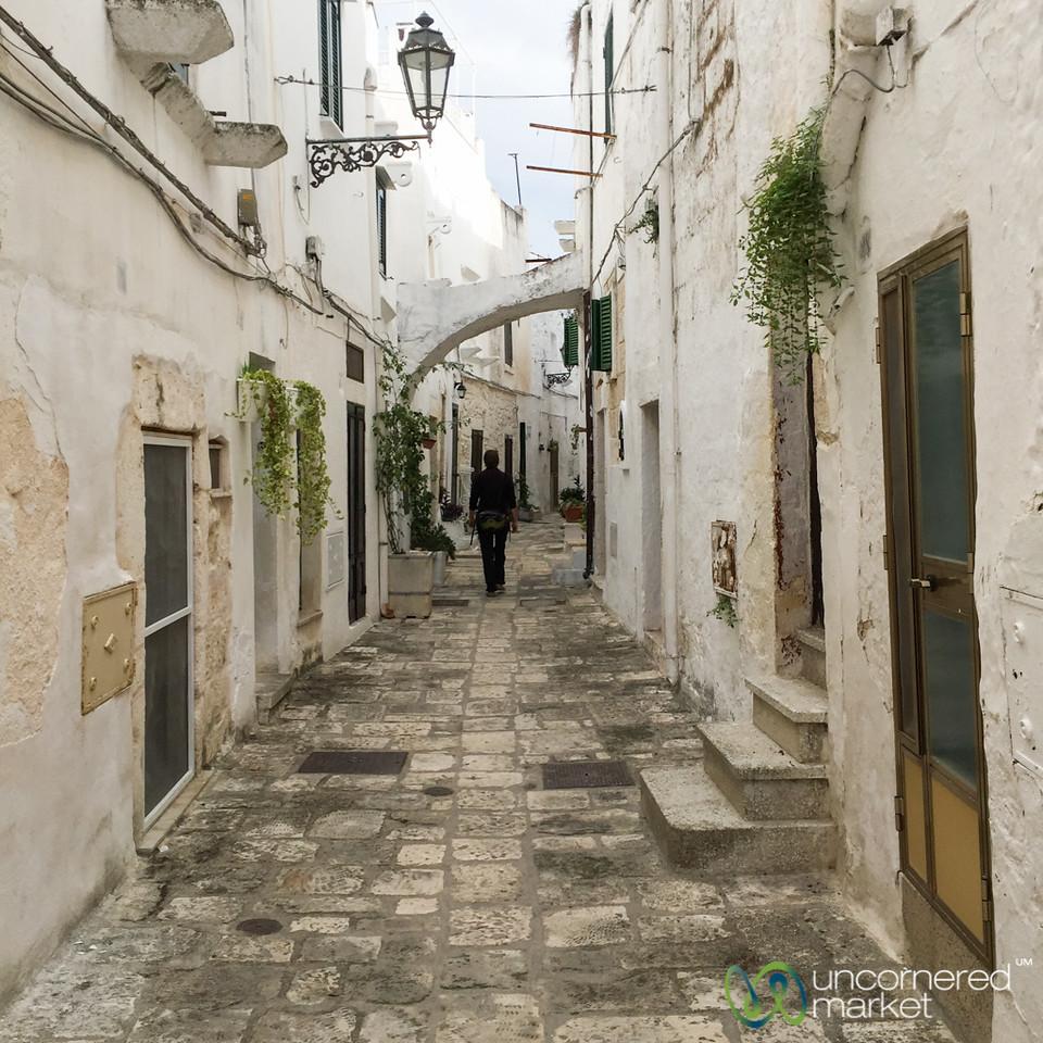 Audrey Walking Through Ostuni - Puglia, Italy