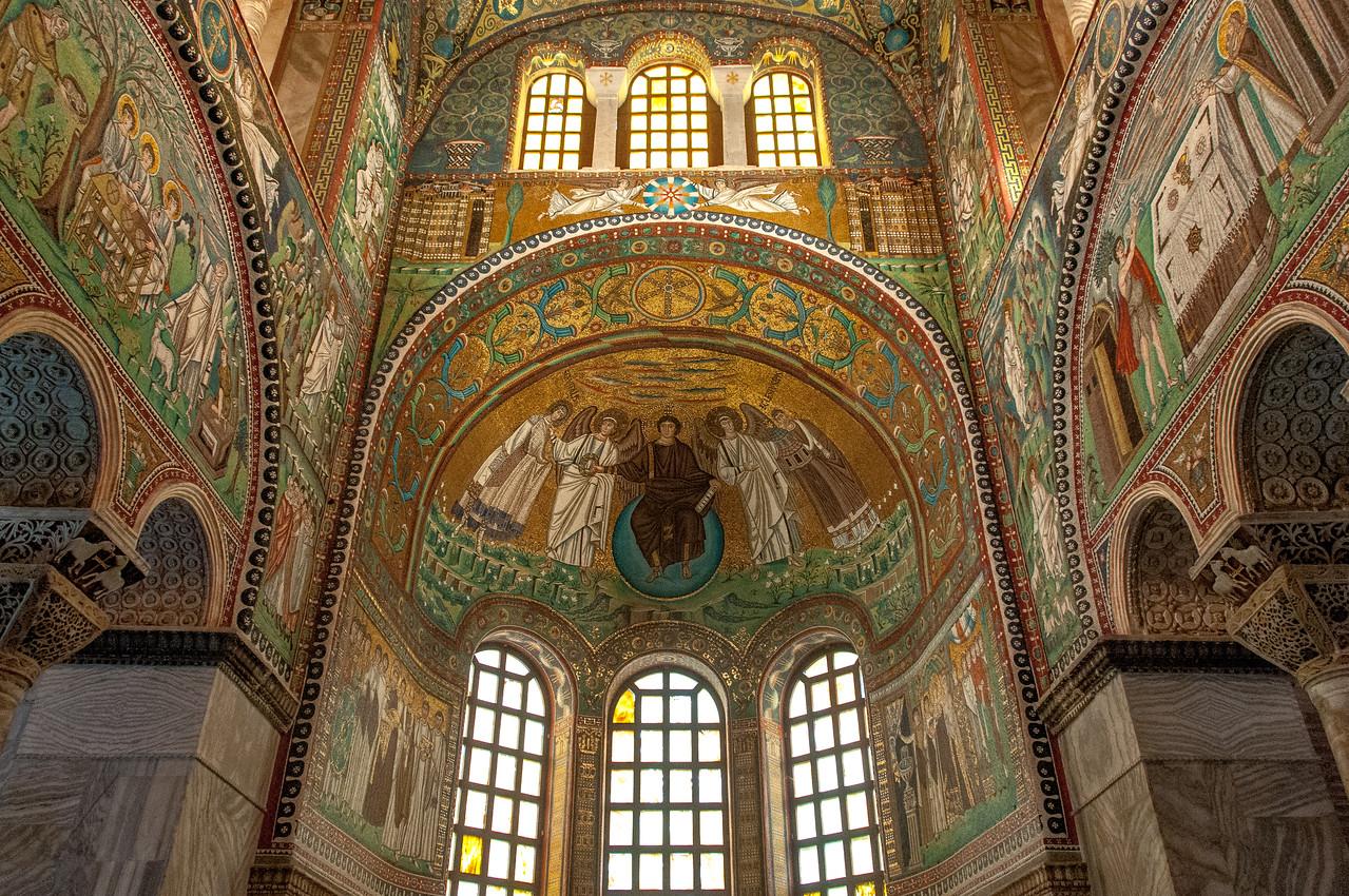 Mosaic inside Basilica of San Vitale in Ravenna, Italy