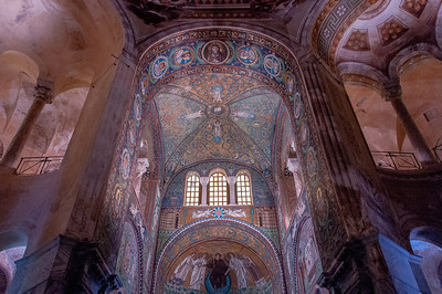 Inside Basilica of San Vitale in Ravenna, Italy
