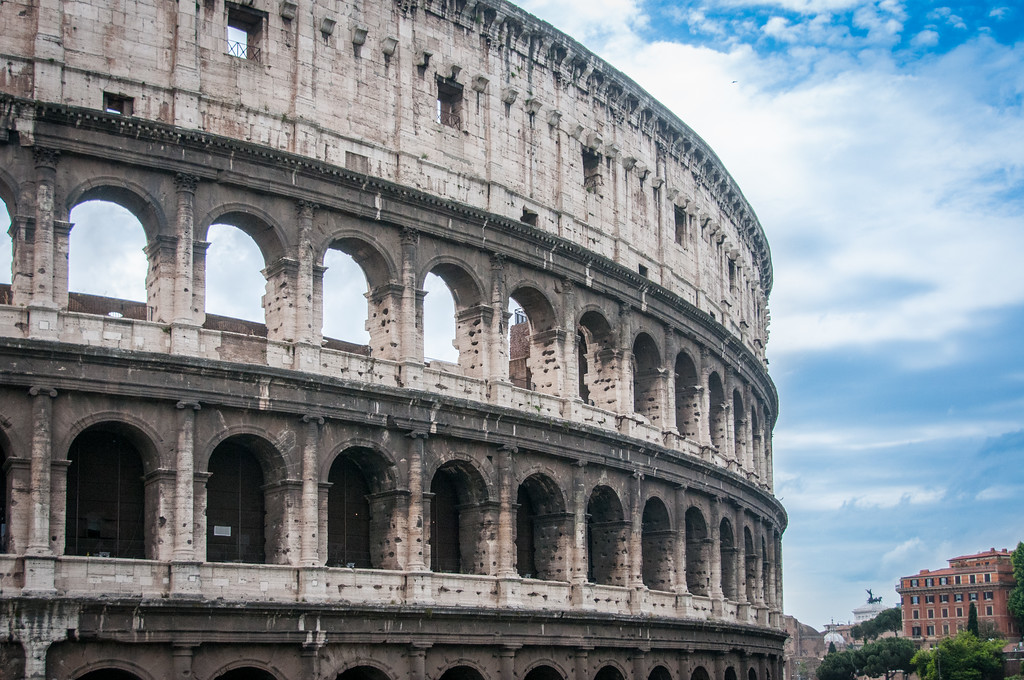 Colosseum in the Historic Centre of Rome