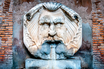 Fountain on the Aventine Hill in Rome, Italy