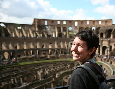Paula at the Colosseum in Rome. Photo by Tim.