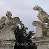 Borghese dragons guarding garden entrance