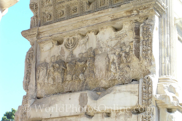 Rome - Forum - Arch of Titus - Sacking of Jerusalem S