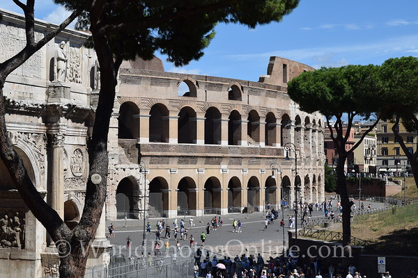 Coliseum 7 - Line was outer wall