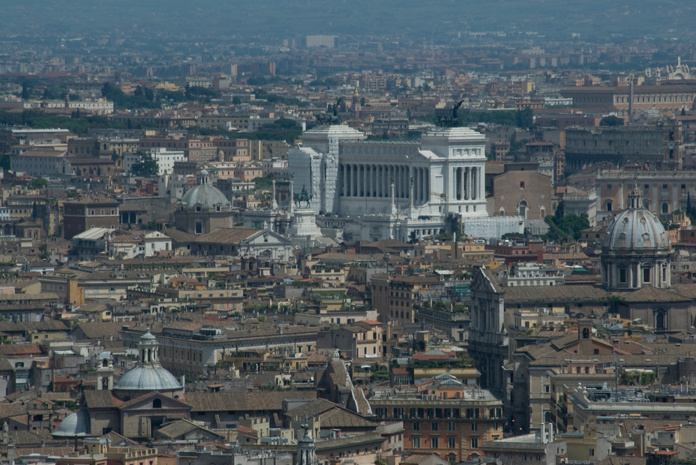 The skyline of Rome, Italy