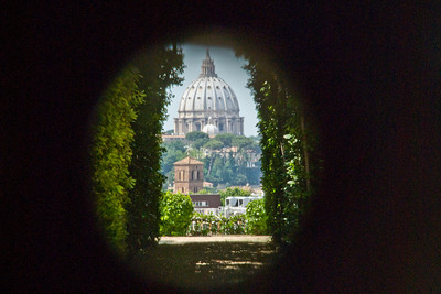 A Peek A Boo View Of St. Peteru0027s Dome Through The Keyhole On The Gate To  The Headquarters Of The Knights Of Malta On Romeu0027s Aventine Hill