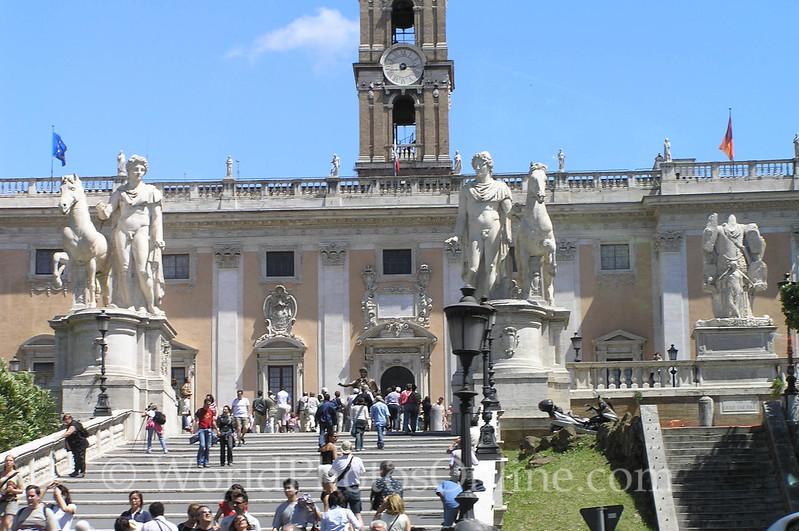 Piazza del Campidoglio - Michelangelo Steps and Piazza