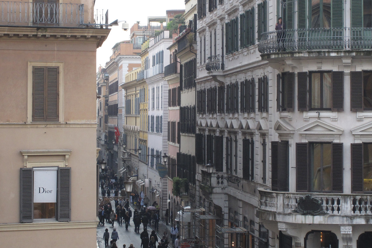 Street scene and buildings in Rome, Italy