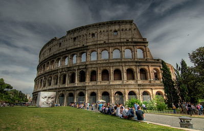 The Colosseum by day in Rome, Italy