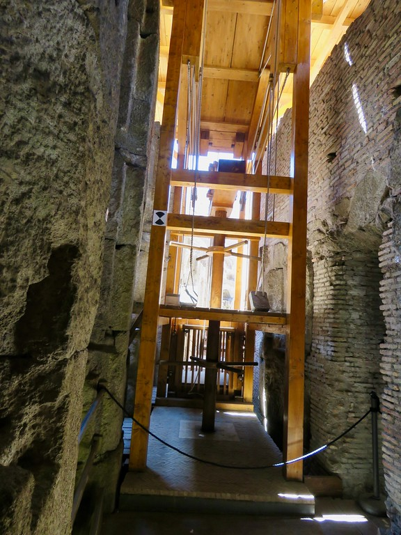 Roman Colosseum underground - elevator and trap door